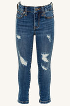 JUNIOR GIRL KHLOE HI CROP JEAN in colour TRUE NAVY
