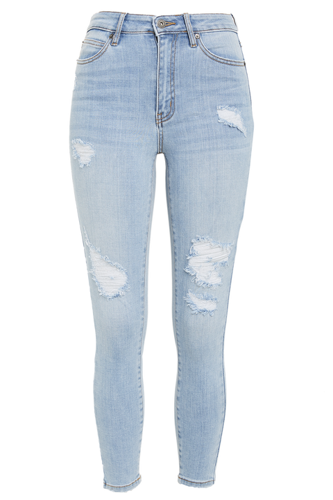 KHLOE HI CROP JEAN in colour CITADEL