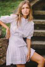 HENRIETTA MINI DRESS in colour CLOUD DANCER