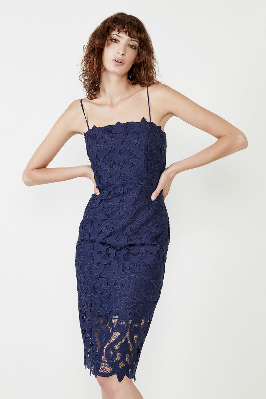 LINA LACE DRESS in colour BLACK IRIS