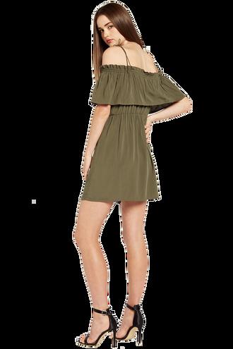 CHELSEA DRESS in colour DEEP LICHEN GREEN