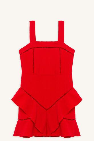 ESTA FRILL DRESS in colour LOLLIPOP