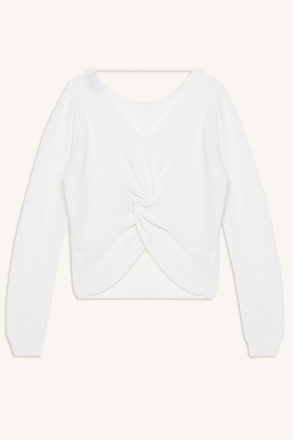 KNOT BACK SWEAT TOP in colour CLOUD DANCER