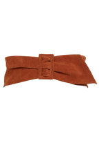 SUEDED BELT in colour TAN