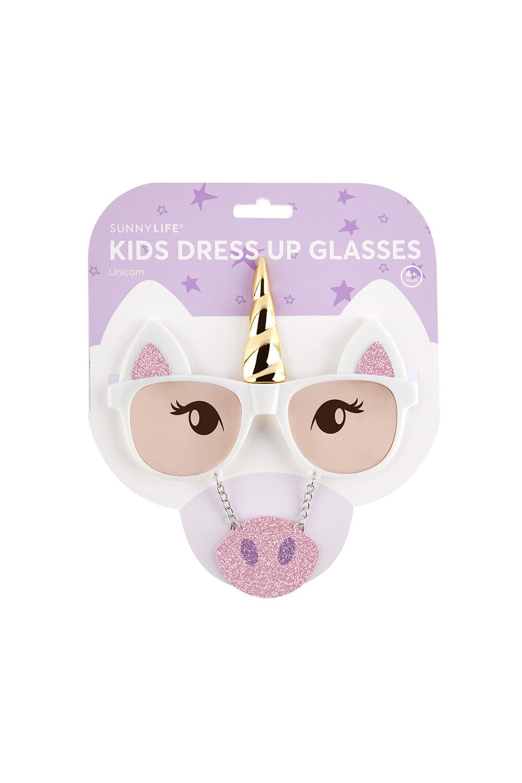 Unicorn Kids Dress Up Glasses in colour BRIGHT WHITE