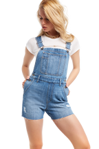 DENIM SHORT OVERALL in colour CITADEL