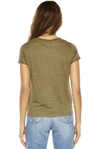 BRIXTON TEE in colour BURNT OLIVE
