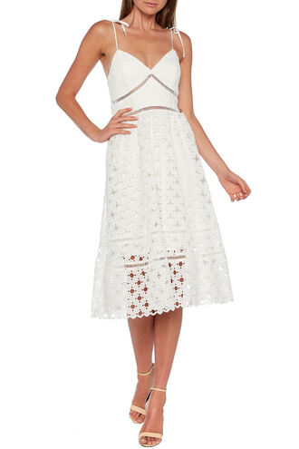 LOUISIANA LACE DRESS in colour CLOUD DANCER