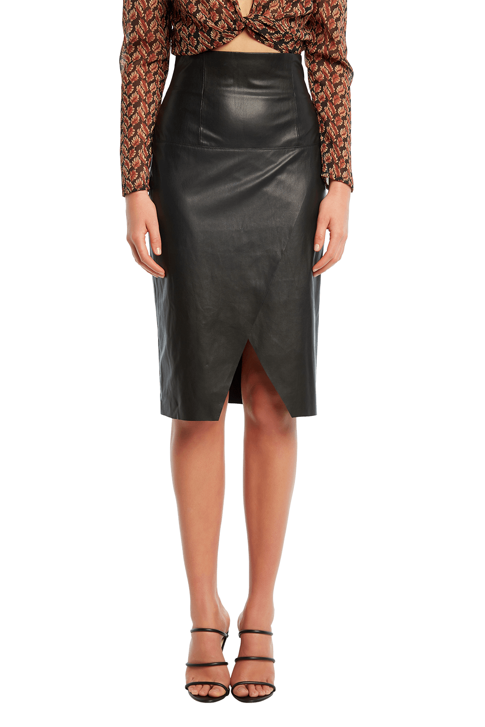 GIOVANNA SPLIT SKIRT in colour CAVIAR