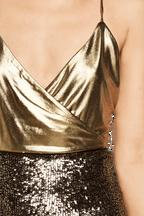 EMLYN WRAP BODYSUIT in colour PALE GOLD