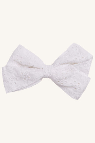 BOW BRODERIE in colour CLOUD DANCER