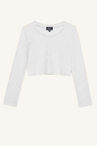 NINA SCOOP L/S TEE in colour MOONBEAM