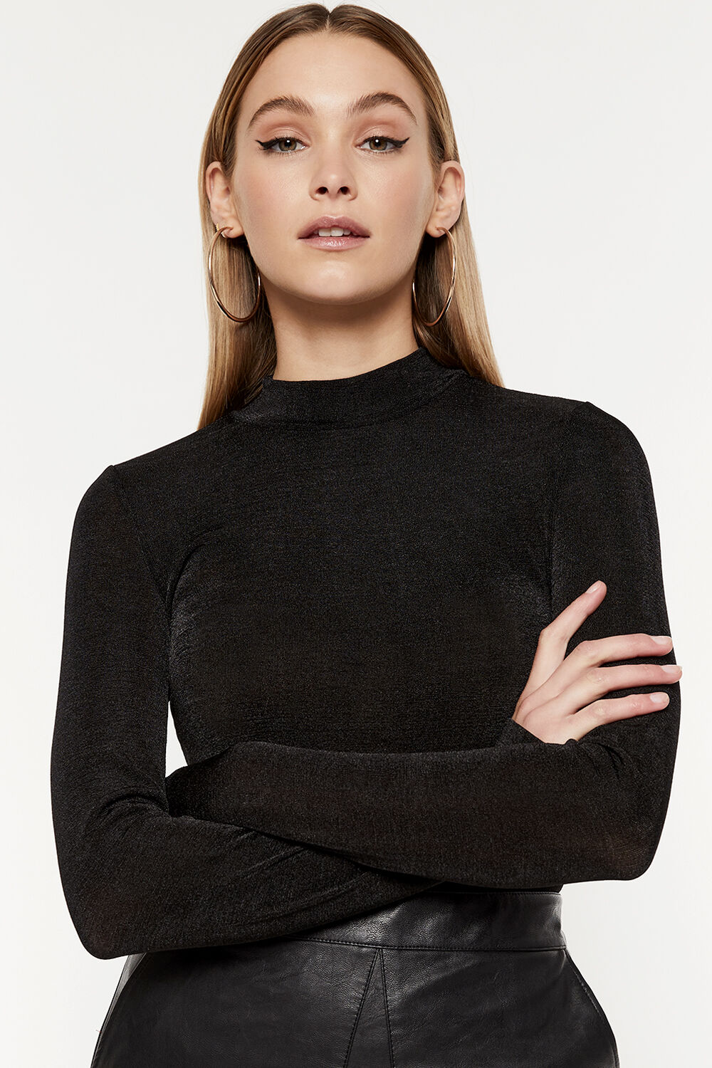 RUE FITTED TOP in colour CAVIAR