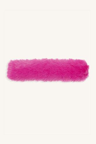 FLUFFY SLAP BANDS in colour HOT PINK