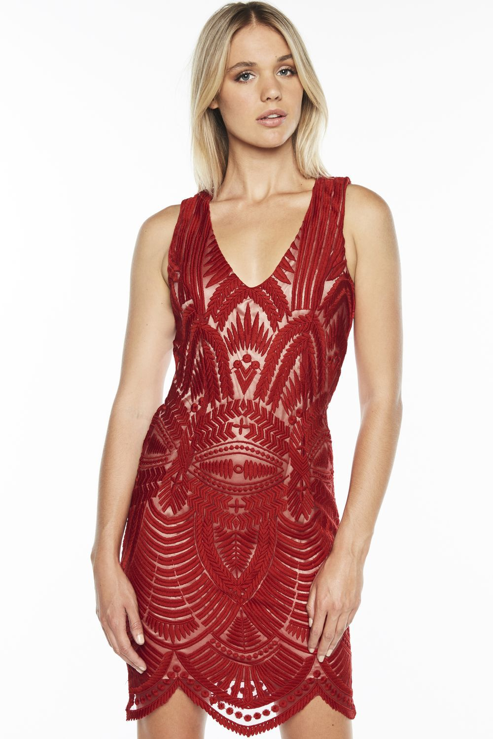 EMBROIDERED DRESS in colour LOLLIPOP