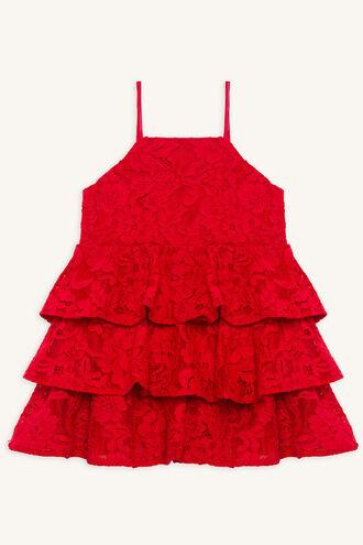 CARTIA TIER DRESS in colour LOLLIPOP
