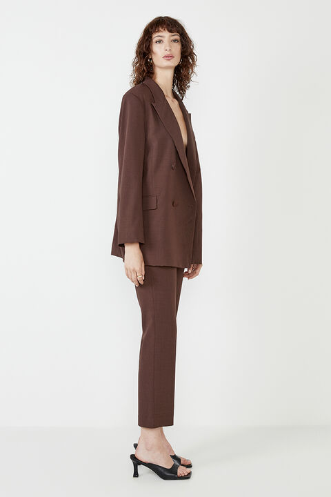 THE OVER SIZED BLAZER in colour BITTER CHOCOLATE