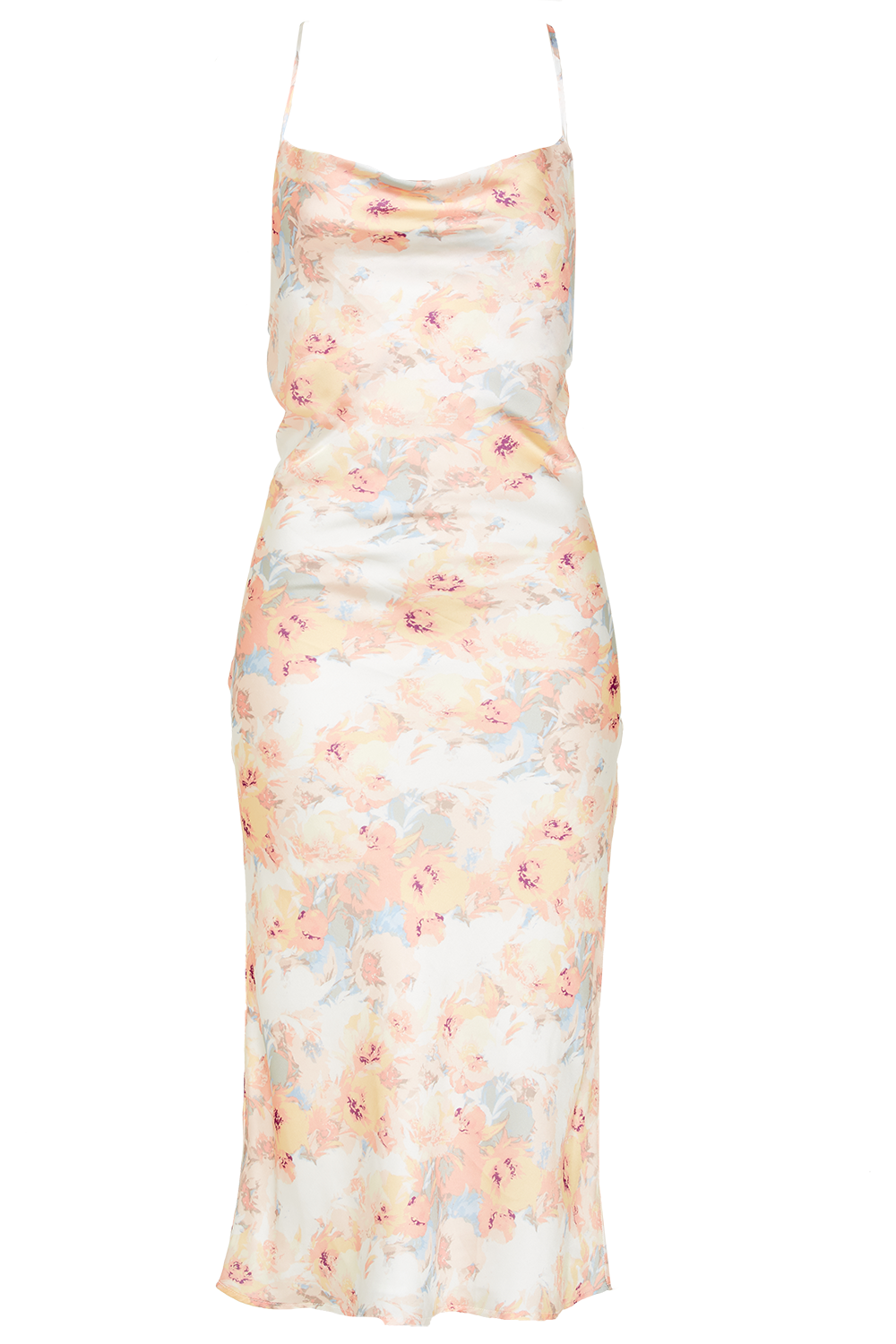 FLORAL SLIP DRESS in colour VANILLA CUSTARD