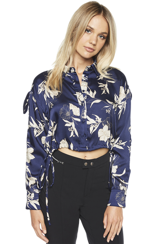 DARIAH CUT OUT TOP in colour MARITIME BLUE