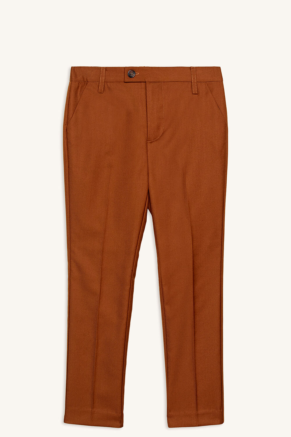 CLASSIC SUIT PANT in colour CASHEW