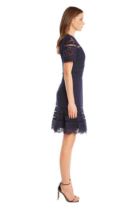 ELOISE LACE DRESS in colour MARITIME BLUE