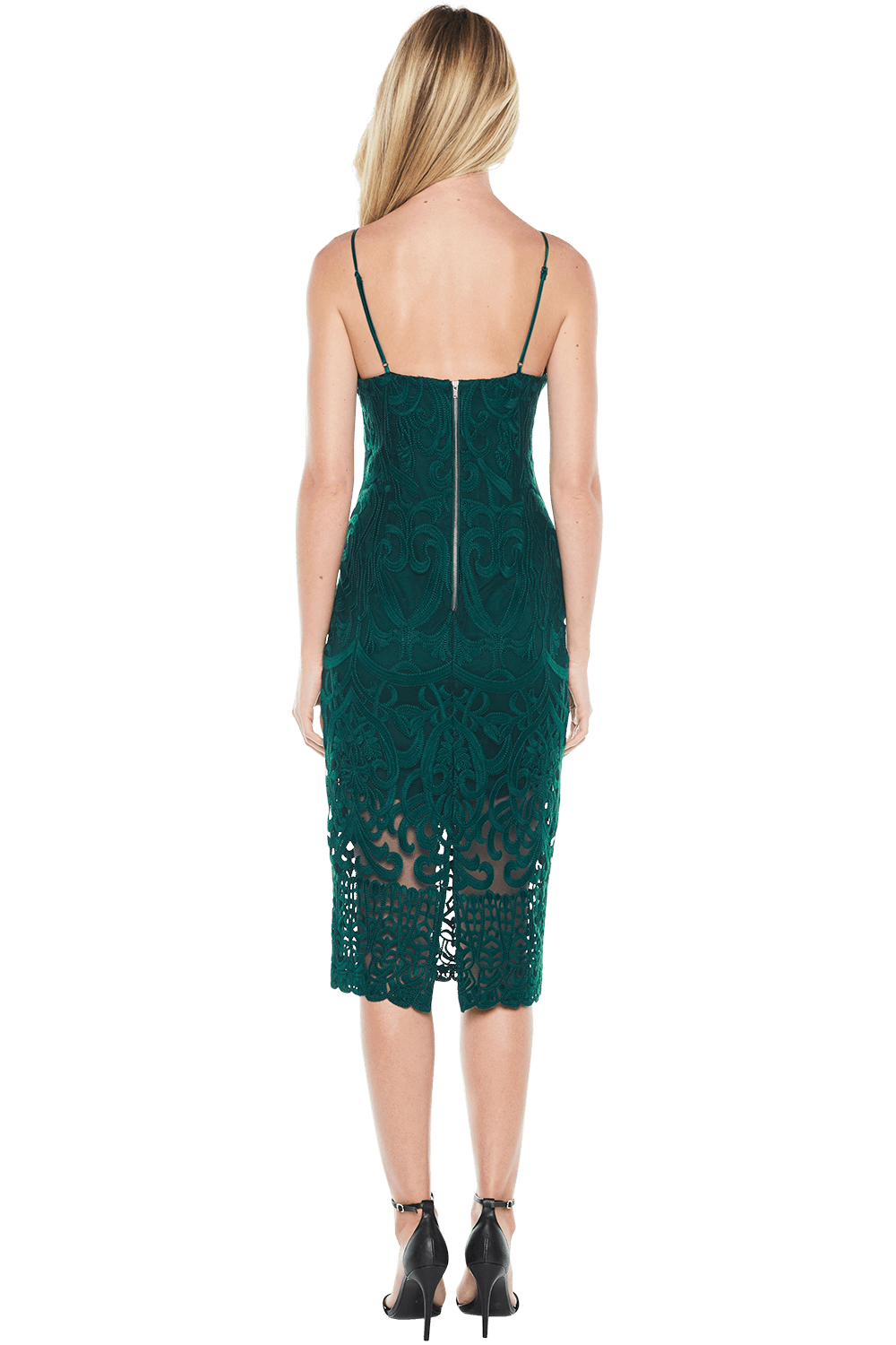 GIA LACE DRESS in colour JASPER