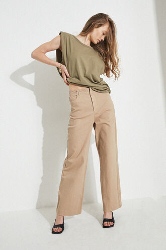 UMA TOP in colour OLIVE NIGHT