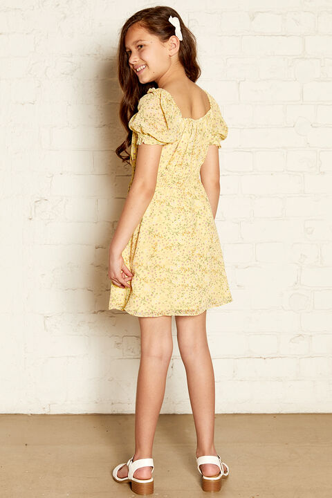 ELISA MINI DRESS in colour VIBRANT YELLOW