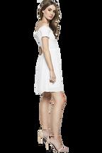 REYNA SHIRRED DRESS in colour CLOUD DANCER
