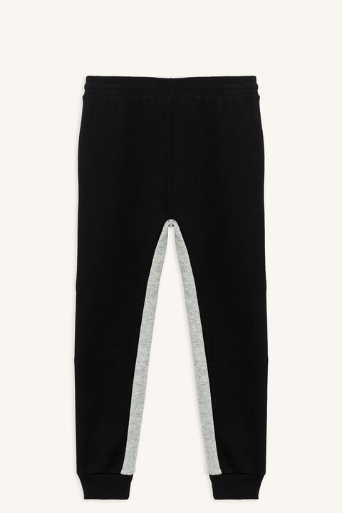 SPLICED MOTO TRACK PANT in colour JET BLACK