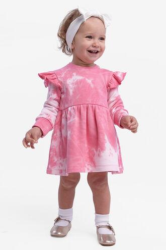 TIEDYE KNIT DRESS in colour BALLERINA