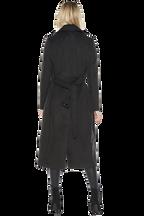 LONG COAT in colour JET BLACK