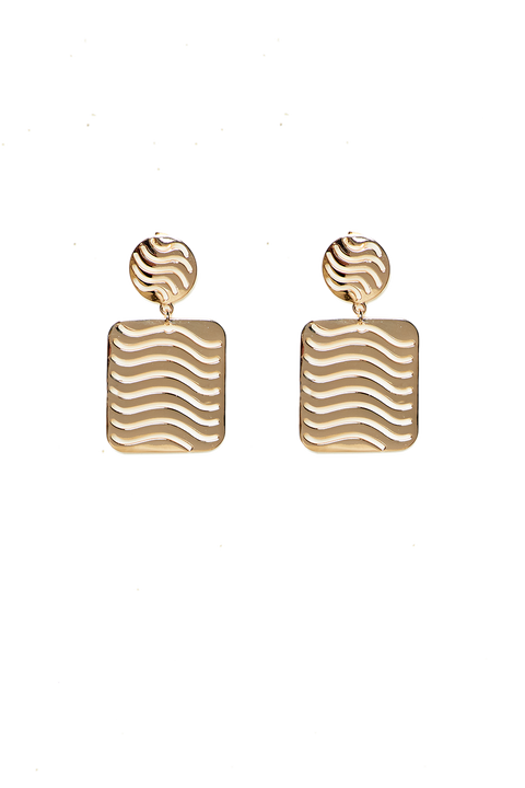 WAVE EARRING in colour GOLD EARTH