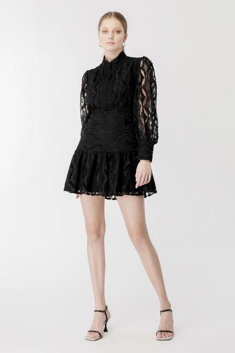 REMY LACE DRESS in colour CAVIAR