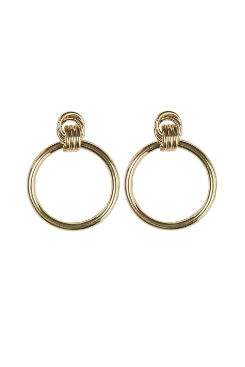 KNOT CONNECTION HOOPS in colour GOLD EARTH