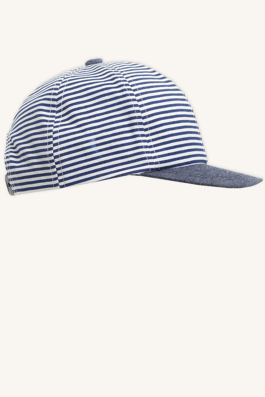 STRIPE TODDLER CAP in colour BLACK IRIS
