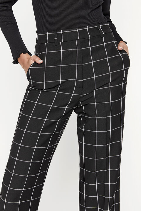 THE CHECK PANT in colour METEORITE