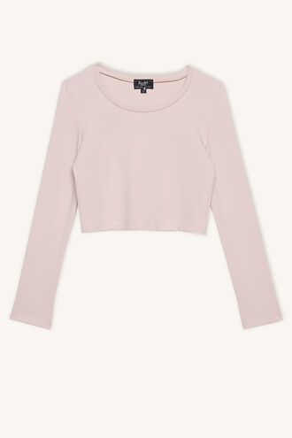 NINA SCOOP L/S TEE in colour SILVER PEONY
