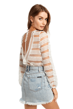 CROCHET BODYSUIT in colour CLOUD DANCER