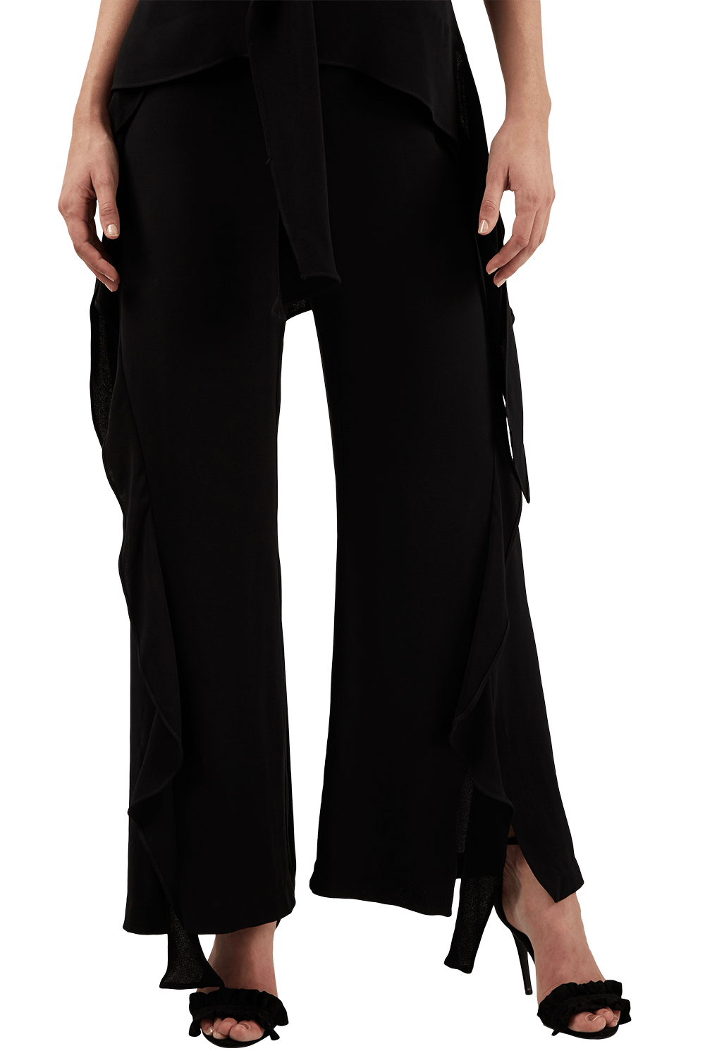 WATERFALL PANT in colour CAVIAR