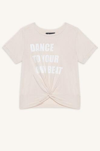 DANCE TWIST TEE in colour SILVER PEONY