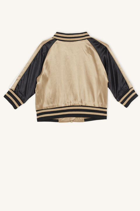LEOPARD BOMBER JACKET in colour ALMOND