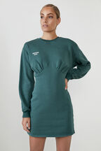 THE ORGANIC SWEATER DRESS  in colour GREEN GABLES