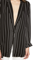 VAL BOYFRIEND BLAZER in colour CAVIAR