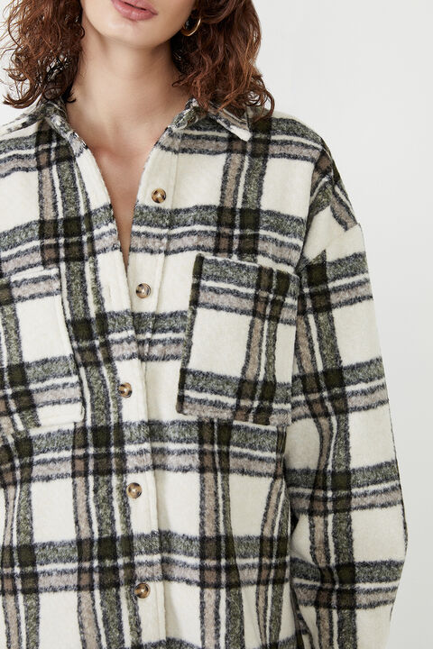 CHECKED FLANNEL SHACKET in colour MOONLIGHT