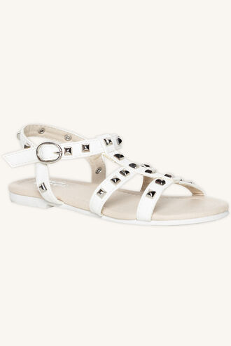 MILLY STUDDED SANDAL in colour WHITE ALYSSUM