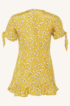 MADDI SUN DRESS in colour YOLK YELLOW