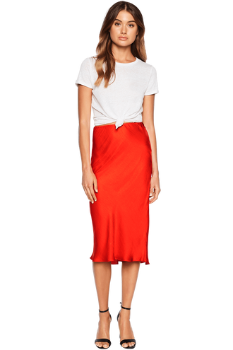 MAYAH MIDI SKIRT in colour FIESTA