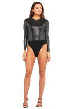 MIRROR BODYSUIT in colour JET SET
