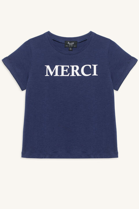 MERCI FRENCHY TEE in colour PATRIOT BLUE